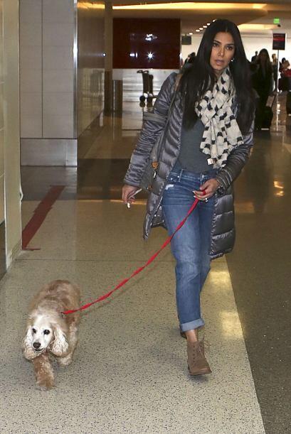 La puertorriqueña disfruta pasar tiempo con sus perros.
