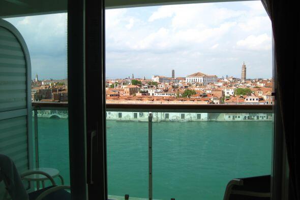 Imágenes de la visita de la periodista Lourdes del Río a Venecia.