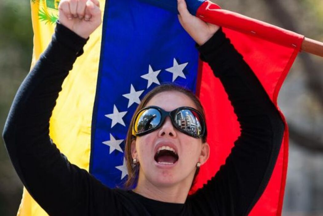 La semana pasada, durante la protesta de los opositores a Maduro tres pe...