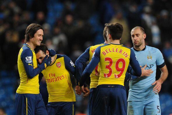 Vendría el silbatazo final y con él la victoria del Arsenal sobre el Man...