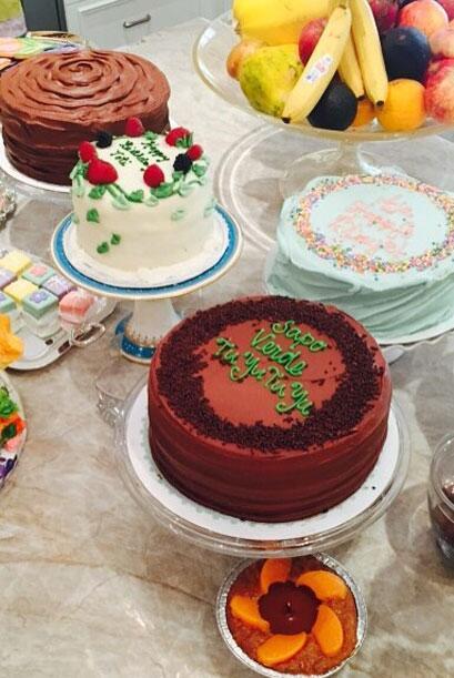 Así despertó la mañana del sábado: ¡con muchos 'cakes'!