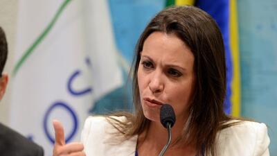 La opositora venezolana está siendo acusada por el gobierno de Nicolás M...