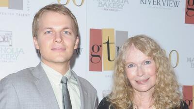 Con su hijo Ronan.