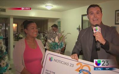 ¡Conoce a la primera ganadora del concurso '23 mil gracias'!