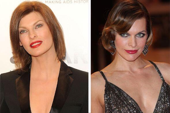 No estas viendo doble, se trata de Linda Evangelista y Milla Jovovich....