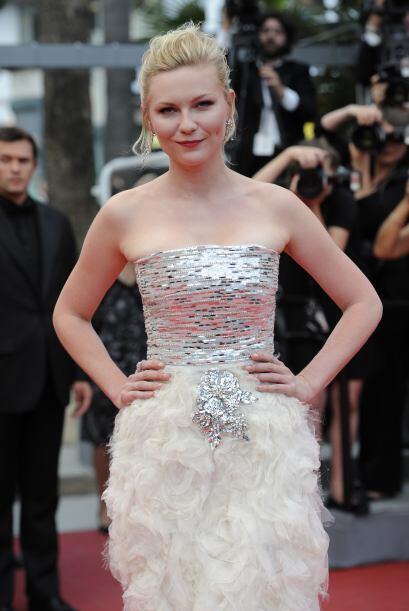 Kirsten cuando fue galardonada en Cannes en 2011.   Aquí los videos más...