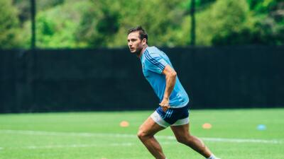 Frank Lampard en entrenamiento con New York City FC