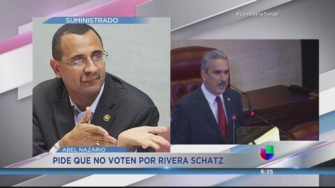 "Abel Nazario pide ""ni un solo voto"" para Thomas Rivera Schatz"