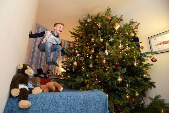 Finlay es el niño más feliz, pues de manera muy literal la navidad vive...