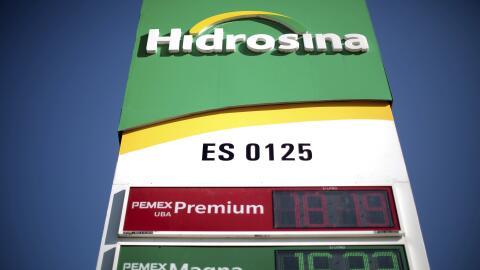 Estación de venta de gasolina en México