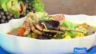 Receta de sopa de mariscos Cantarete Machu Pichu