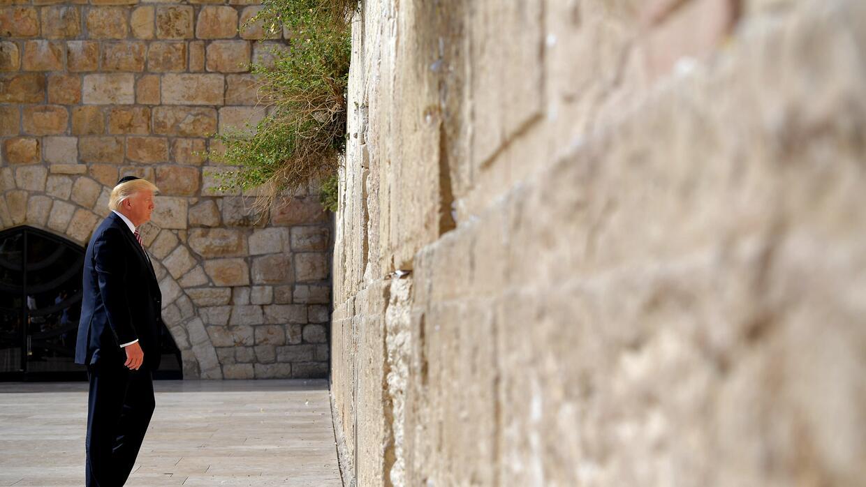 Donald Trump ante el Muro de los Lamentos de Jerusalén
