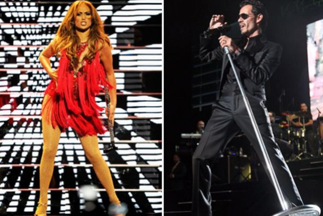 5.- Jennifer López y Marc Anthony: El ritmo latino de estos dos artistas...