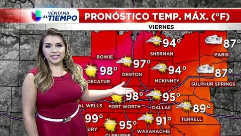 'Dallas en un Minuto': día muy caluroso, el pronóstico del tiempo para e...