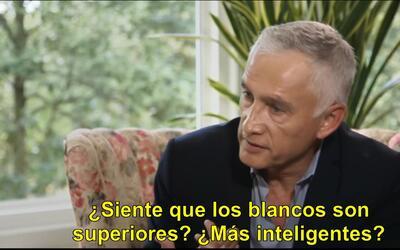 """El enfrentamiento entre Jorge Ramos y un supremacista blanco: """"¿Quiere q..."""