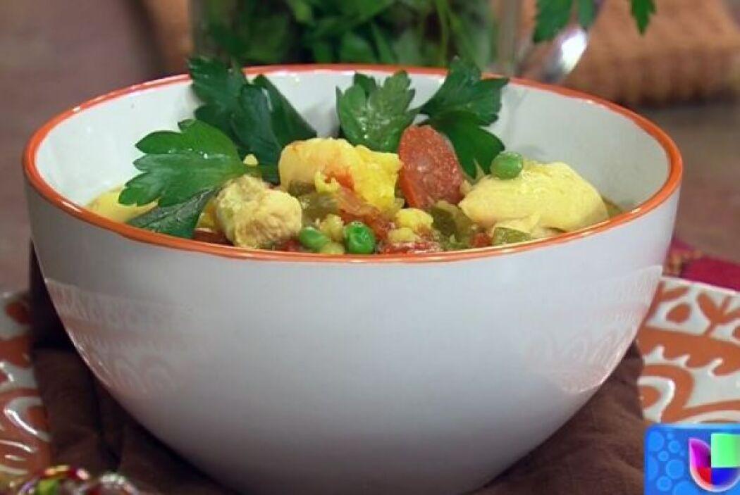 Receta para una 'Sopa de paella' Mira la delicia que Ingrid Hofmann le e...