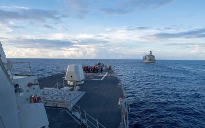 El buque de guerra USS Dewey