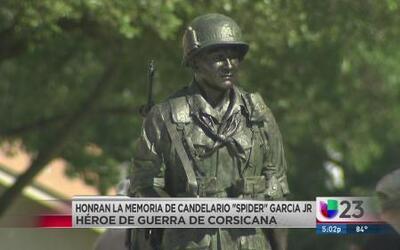 Reconocen legado de Candelario García, héroe de Corsicana