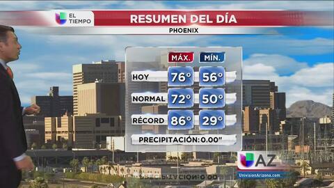 Temperaturas estables en Phoenix