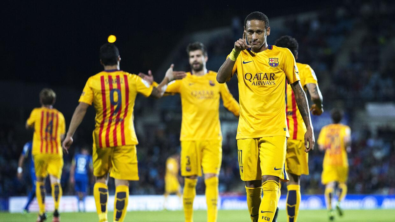 Neymar marcó el segundo gol culé