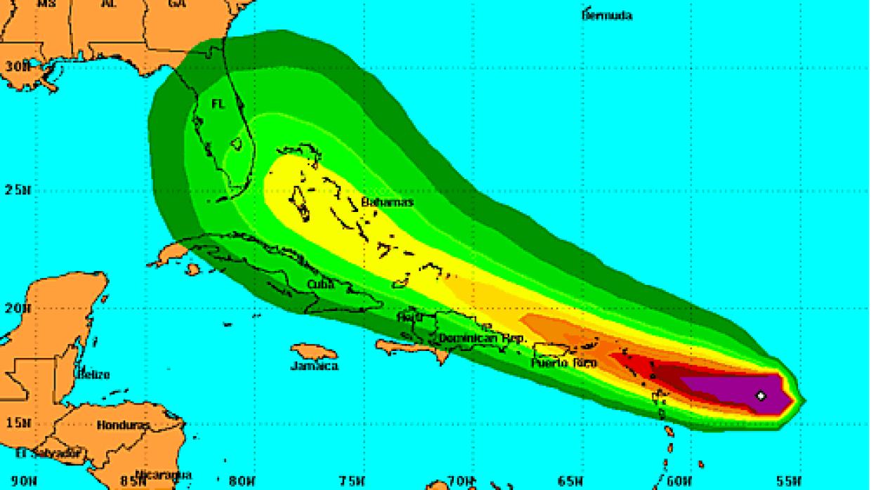 Tormenta tropical Erika miércoles