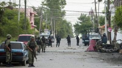 En un enfrentamiento con miembros de las fuerzas armadas mexicanas, once...