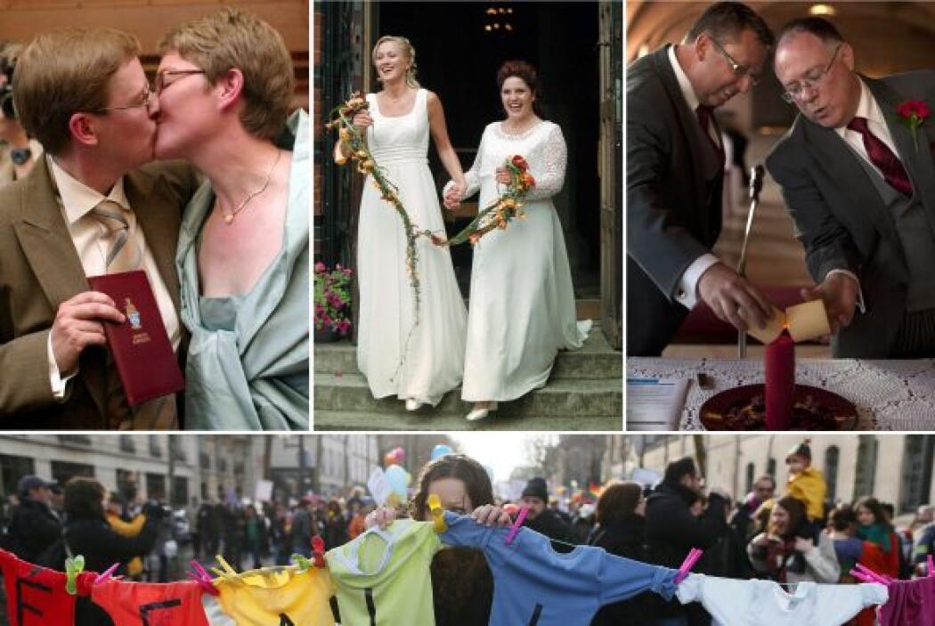 Este 2013, Francia legalizó el matrimonio homosexual después de un encar...
