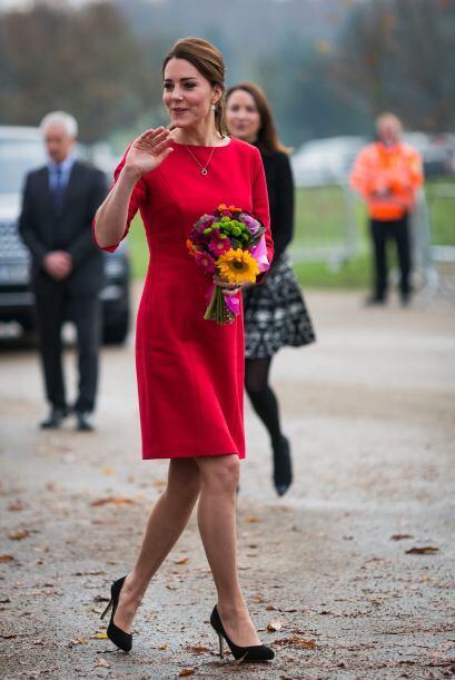 La Duquesa, que tiene cuatro meses de embarazo, viajo a Norfolk para apo...