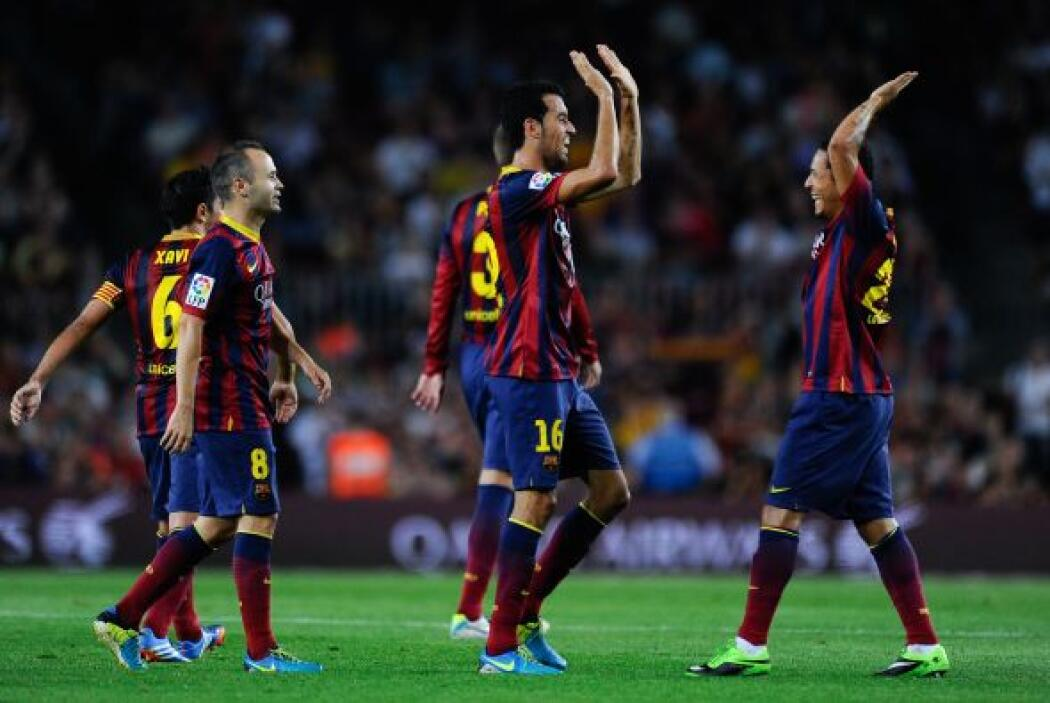 Barcelona estaba volcado al ataque y en una jugada en la que Messi no ma...