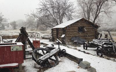 Tormenta de nieve en California