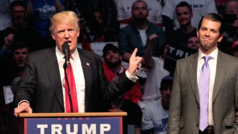 Donald Trump Jr. ha estado junto a su padre durante toda la campaña.