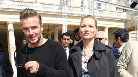 Kate Moss y David Beckham