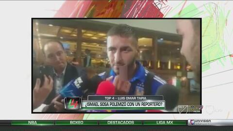 La polémica seña de Ismael Sosa a un reportero