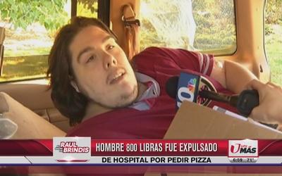 Fue expulsado de hospital, ¡por pedir pizza!
