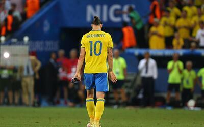 Su torneo de adiós con Suecia resultó un fiasco para 'Ibra'