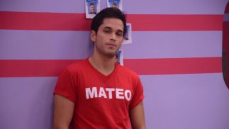Mateo fue el tercer participante en salir de Protagonistas.