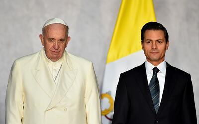 El papa Francisco y Enrique Peña Nieto