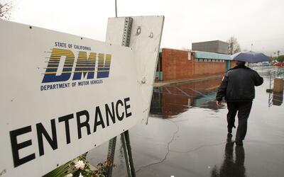 Una oficina del DMV en California.