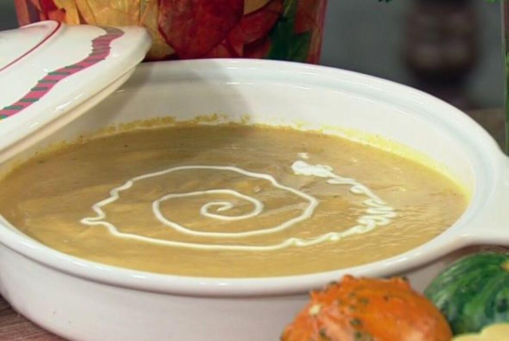 Receta de sopa de calabaza con el Chef Pepín  El chef Pepín enseñó a Zul...