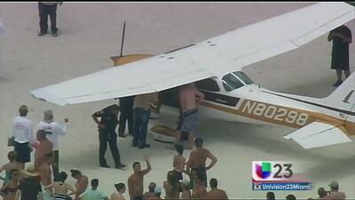 Sin heridos aterrizaje de emergencia en playa de Miami Beach