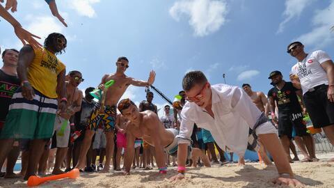Turistas estadounidenses en Cancún