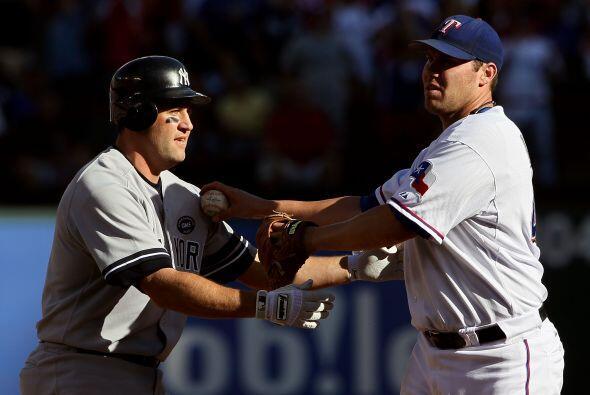 Los Yankees recuperaron una carrera en la cuarta, gracias al bateador de...