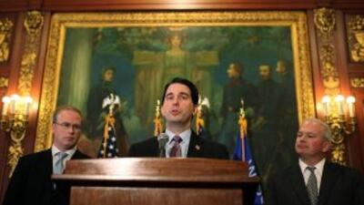 Scott Walker, el gobernador republicano de Wisconsin, fue un feroz defen...