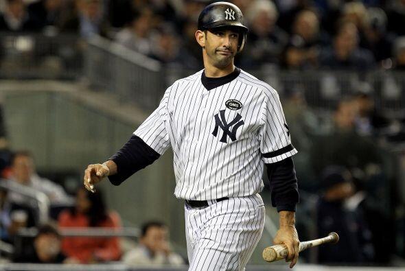 Posada debutó con los Yankees el 4 de septiembre de 1995, en la misma te...
