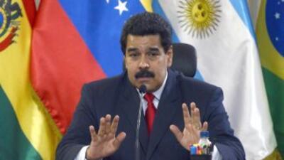 El presidente de Venezuela, Nicolás Maduro, en una foto de archivo duran...