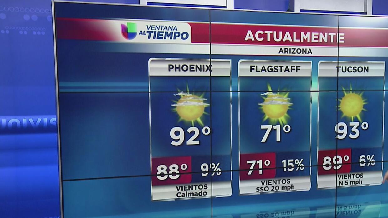 Condiciones cálidas y agradables en este sábado