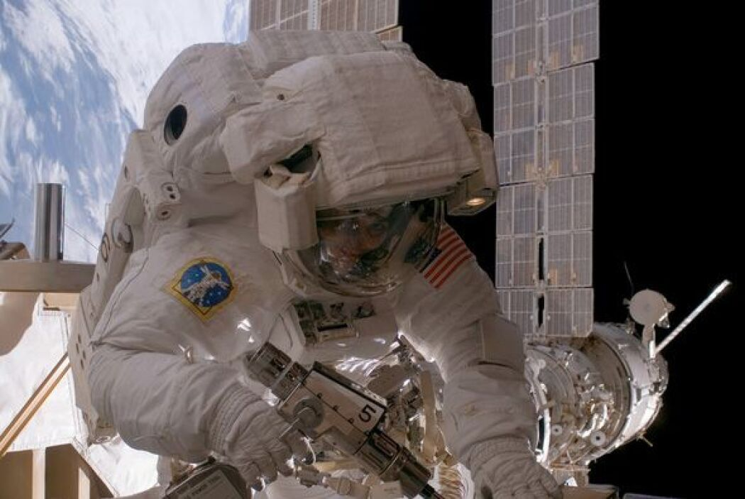 La astronauta Sunita L. Williams, ingeniera de vuelo de la Expedición 14...