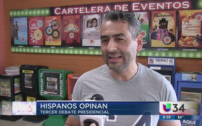 Hispanos en Atlanta opinan del tercer debate presidencial