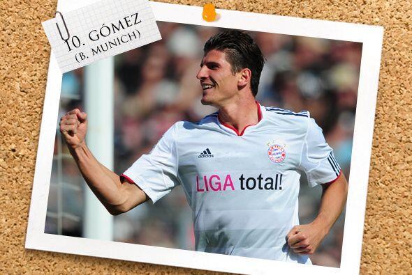 En la punta aparece el alemán con sangre española, Mario Gómez.
