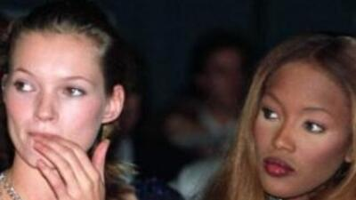 La supermodelo Naomi Campbell pedía consejos de moda a su compañera Kate...